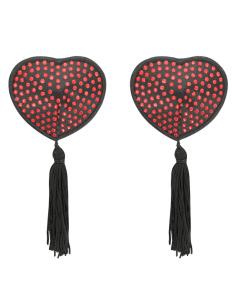 Klobučki za bradavičke Coquette Heart rdeči