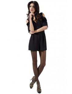 Hlačne nogavice Passion TI002, črne