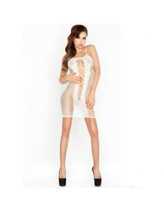 Mrežasta oblekica Passion BS027, bela